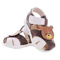 小熊幼兒手工真皮寶寶鞋 咖 sk0374 魔法Baby