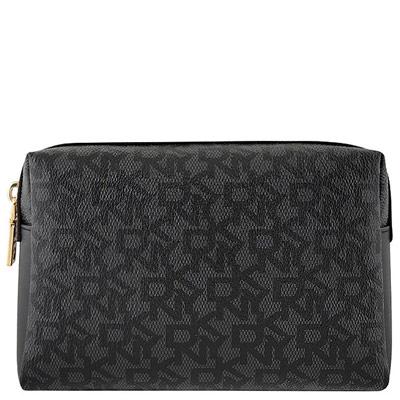 DKNY 黑色LOGO PVC化妝包