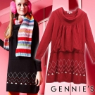Gennies奇妮–低調氣息舒適彈性繞頸針織秋冬孕婦洋裝(GSY01)2色可選