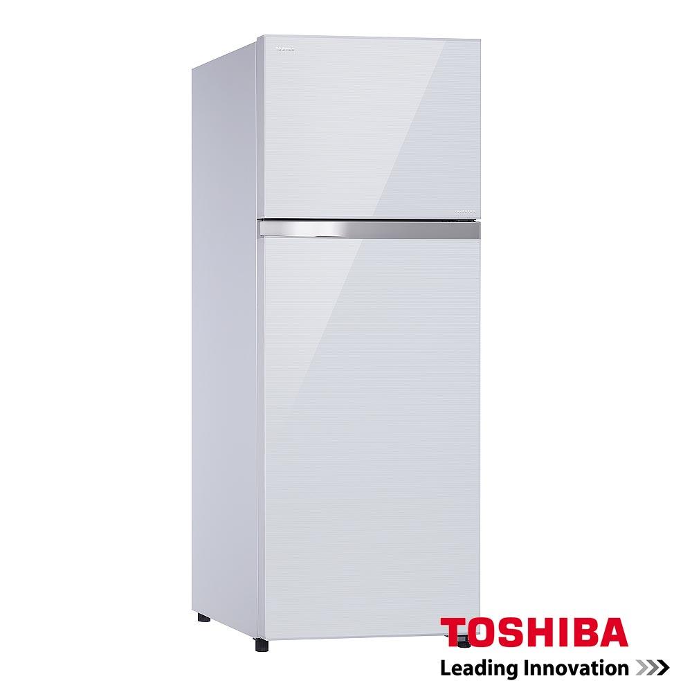 TOSHIBA東芝409L雙門變頻玻璃鏡面冰箱GR-TG46TDZ
