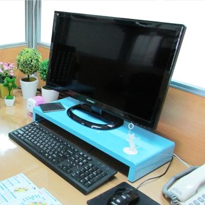 Amos-馬卡龍高載重鐵板多功能置物架/桌上螢幕架