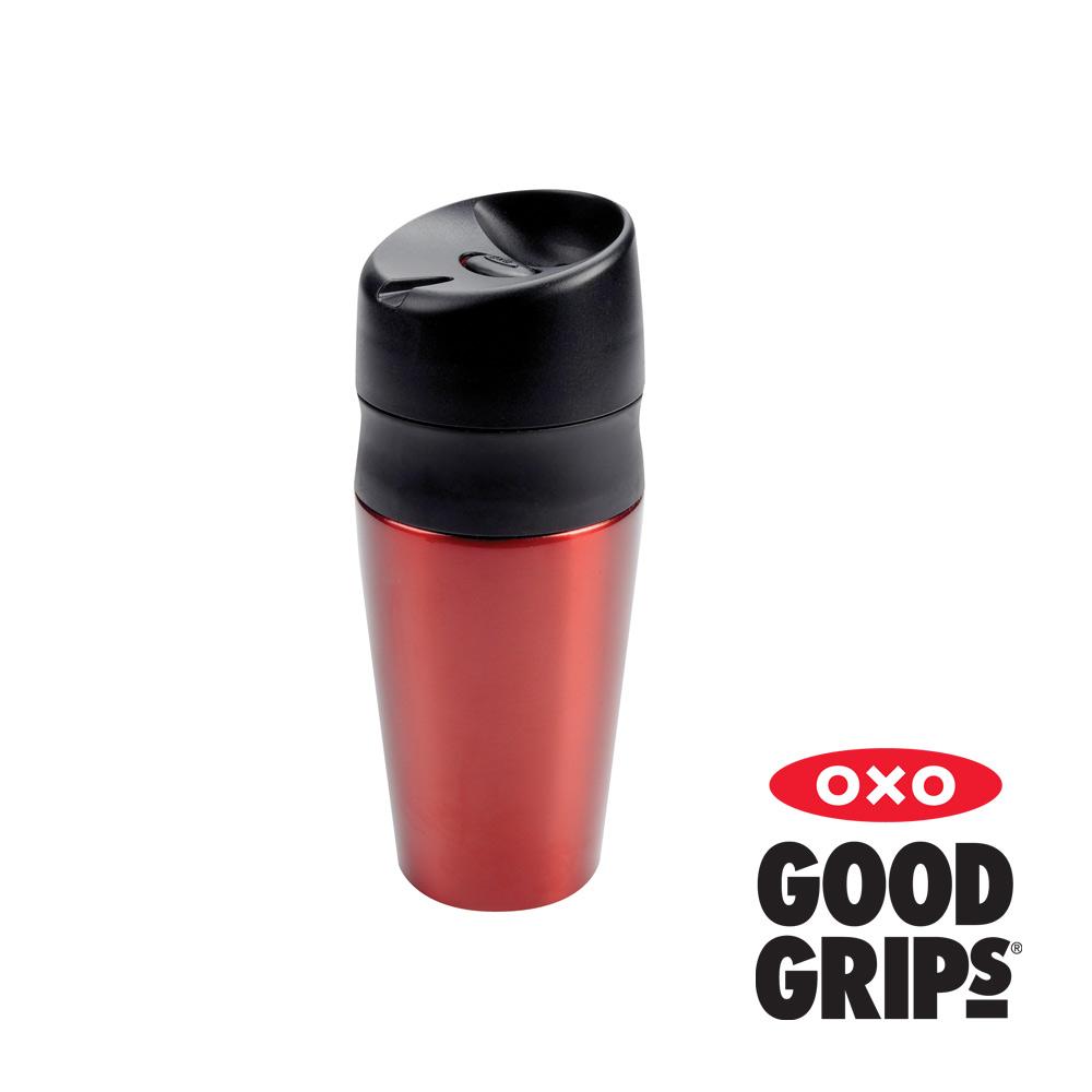 OXO 輕鬆按不鏽鋼保溫杯 (正紅 400ml)