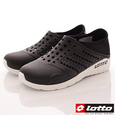Lotto樂得-二代潮流洞洞鞋-SFI360黑(男段)