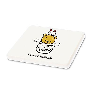 Tsum Tsum迪士尼珪藻土杯墊/皂盤-維尼小熊甜蜜蜜