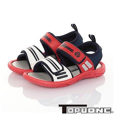 TOPUONE  輕量減壓休閒涼鞋童鞋-紅