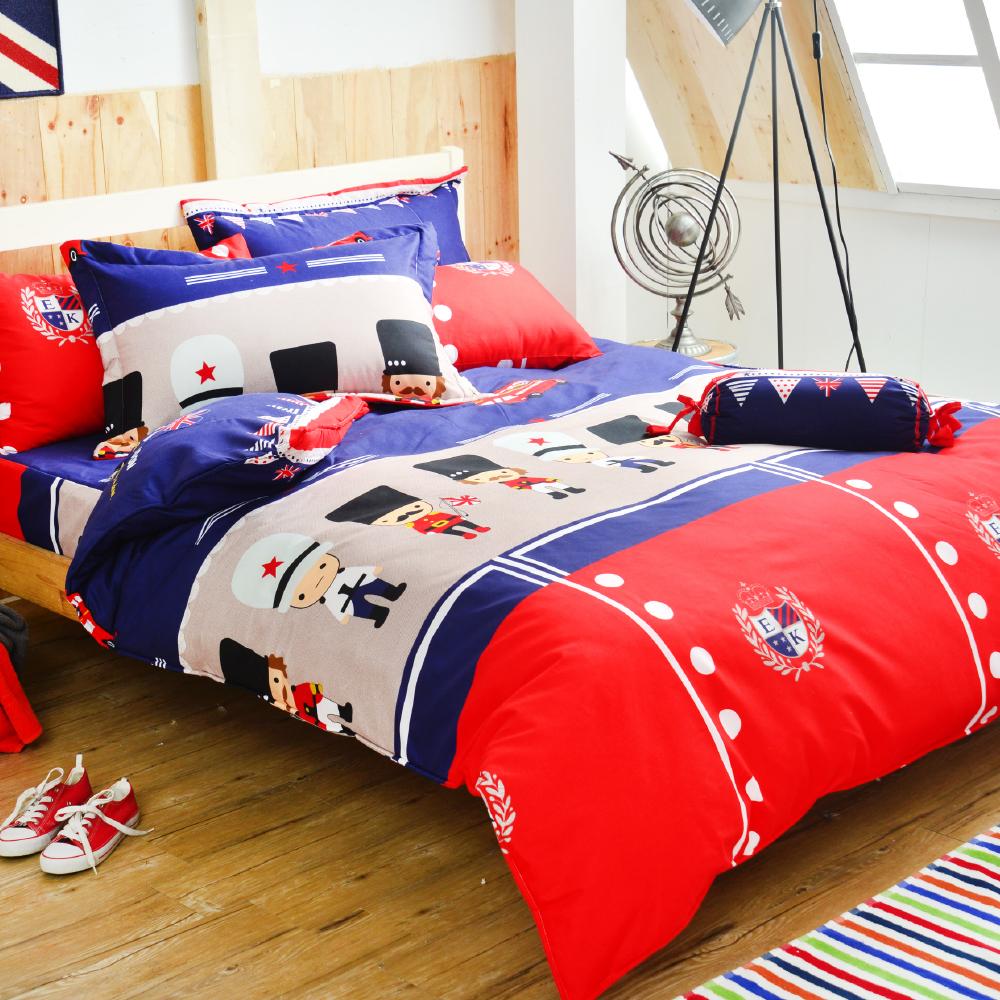 Goelia 小小兵 加大 活性印染超細纖 全鋪棉床包兩用被四件組