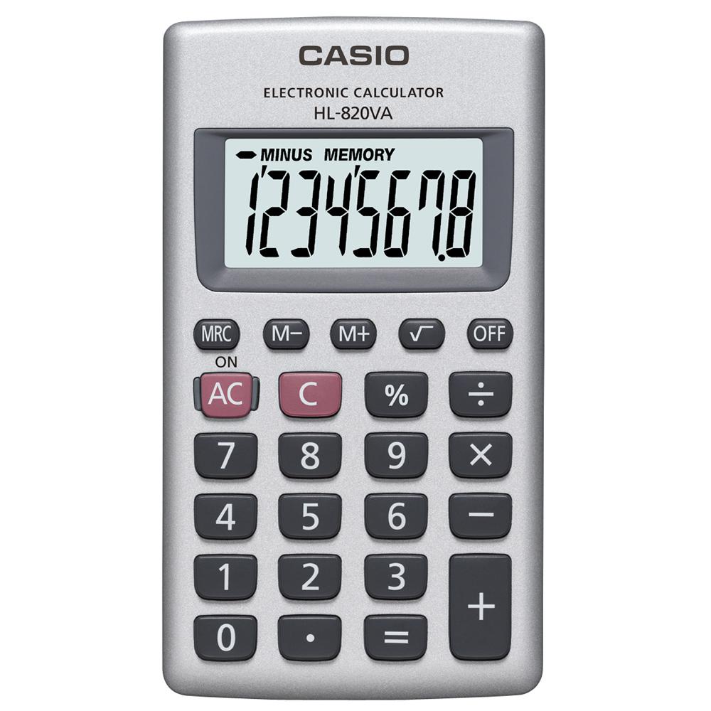 【CASIO】攜帶式8位計算機HL-820VA (國家考試專用機種)