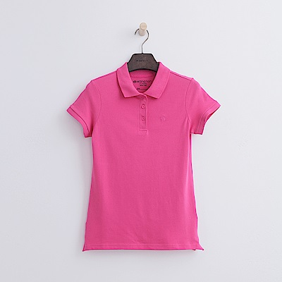 Hang Ten - 女裝 - 基本多彩POLO-桃紅色
