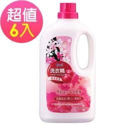 LIVIN CARE 蜜桃果香洗衣精2000ml(6入)