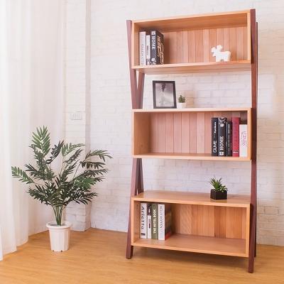 Bernice-艾維斯3尺實木造型展示櫃/書櫃-90x41x175cm