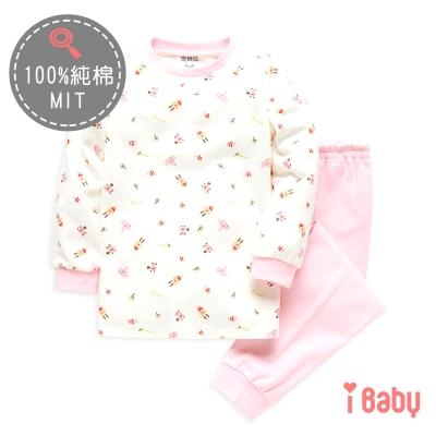 麗嬰房 ibaby 可愛小兔舒棉長袖家居服套裝 粉紅