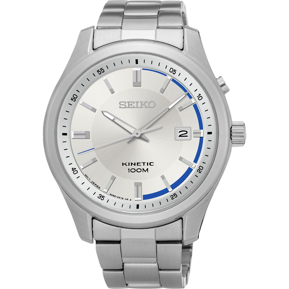 SEIKO KINETIC 都會人動電能腕錶(SKA717P1)-銀/42mm