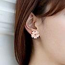 Hera 赫拉 鑲鑽五葉花耳夾-2色