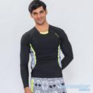 澳洲Sunseeker泳裝時尚骷髏拼接男士長袖衝浪上衣-黑