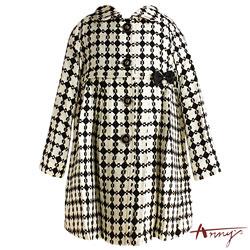 Annys優雅圈圈針織羊毛大衣*3277黑