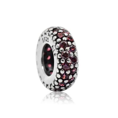 Pandora 潘朵拉 桃紅環狀水鑽魅力 純銀墜飾 串珠