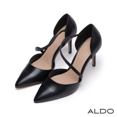 ALDO-風華絕代原色弧形尖頭細高跟鞋-尊爵黑色