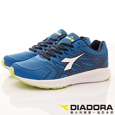 DIADORA-專業彈力跑鞋款-RFI806藍(男段)