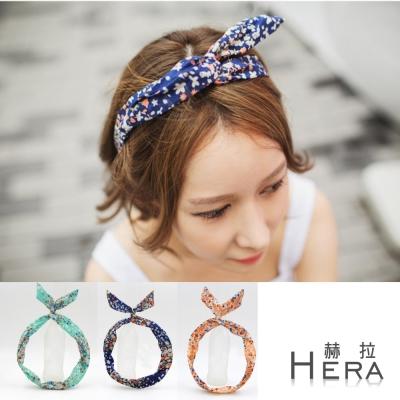 Hera  碎花兔耳朵髮箍/髮帶(三色)