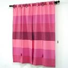 布安於室-色塊純棉窗簾-紫色系