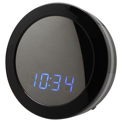 【CHICHIAU】WIFI無線網路高清1080P圓形電子鐘-針孔微型夜視攝影機+影音記錄