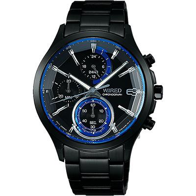 WIRED 東京潮流炫彩計時腕錶(AY8009X1)-藍x黑/40mm