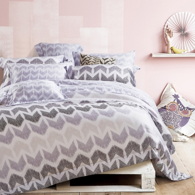 Lily Royal 天絲 六件式兩用被床罩組 特大 宿本灰