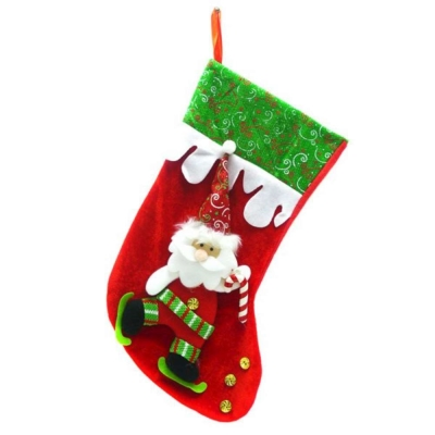 16吋金扣小手杖聖誕老公公 聖誕襪/耶誕襪