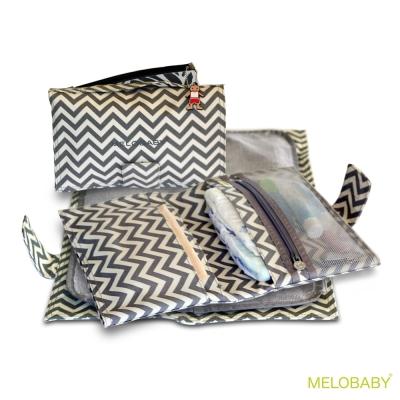 Melobaby 澳洲媽咪多功能換尿布隨身包 (經典條紋)