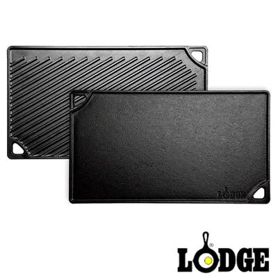 美國-Lodge-鑄鐵雙面牛排煎盤-42-5-24