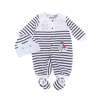 魔法Baby 寶寶薄款長袖連身衣(附帽子及腳套)k50024