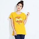 101原創 放克派對短袖T恤上衣-橙黃