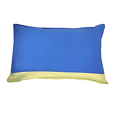 Yvonne Collection拼接枕套-中藍/嫩黃