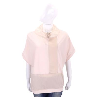 FABIANA FILIPPI 粉橘色抽繩拼接設計短袖上衣