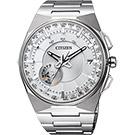 CITIZEN  衝鋒衛星對時鈦光動能旗艦腕錶(CC2001-57A)-白x銀/45mm