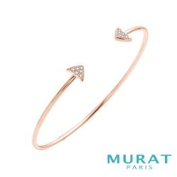 MURAT Paris米哈巴黎 時尚滿鑽三角手環(玫瑰金)