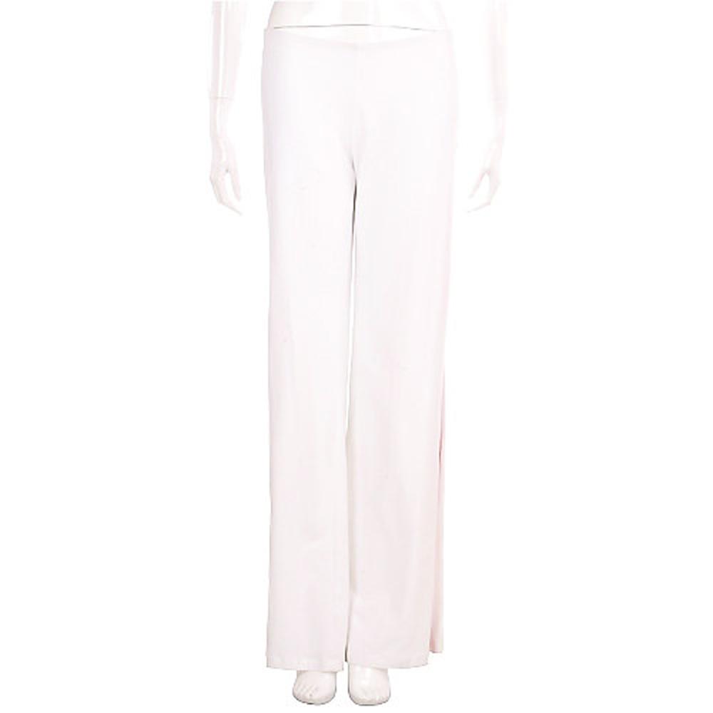 BLUGIRL 白色拼接桃紅緞面棉質長褲