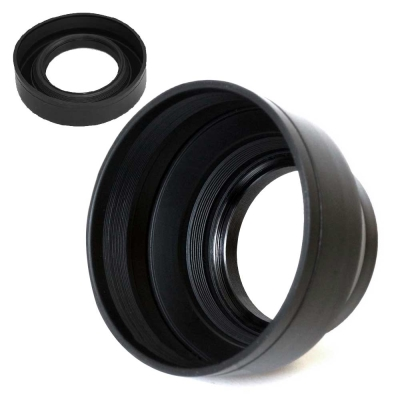 直徑 62 mm 單眼通用 三段可伸縮 軟式 螺紋遮光罩