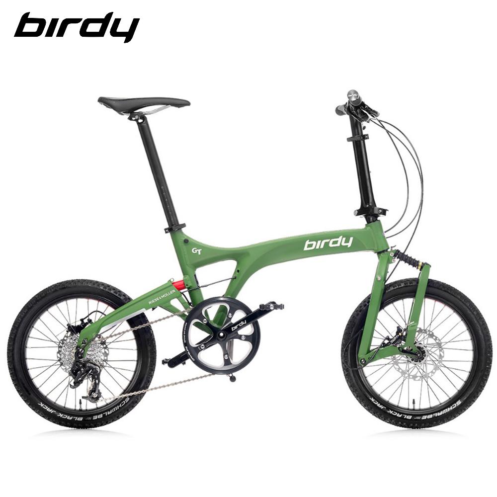 館長推薦!New Birdy(Ⅲ) GT多地形越野10速18吋前後避震鋁合金折疊單車-綠