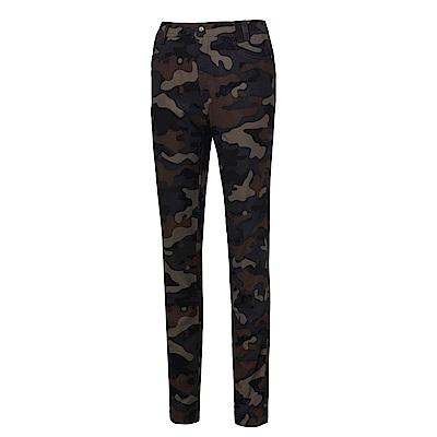 【Wildland 荒野】女彈性印花時尚機能長褲