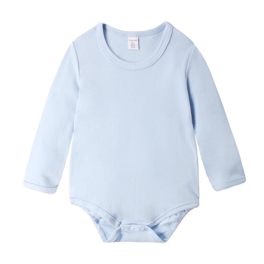 baby童衣 純棉素面長袖包屁衣 50783