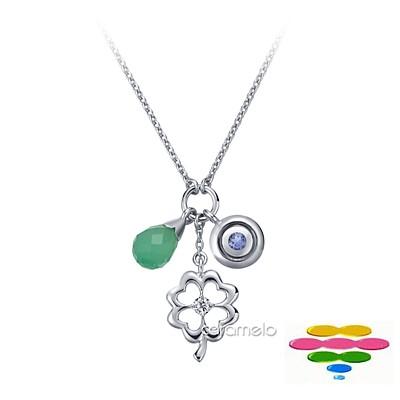 彩糖鑽工坊 彩色寶石項鍊 幸運符系列
