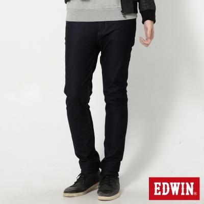 EDWIN 大尺碼 迦績褲 EDGE修身窄直筒牛仔褲-男-原藍色