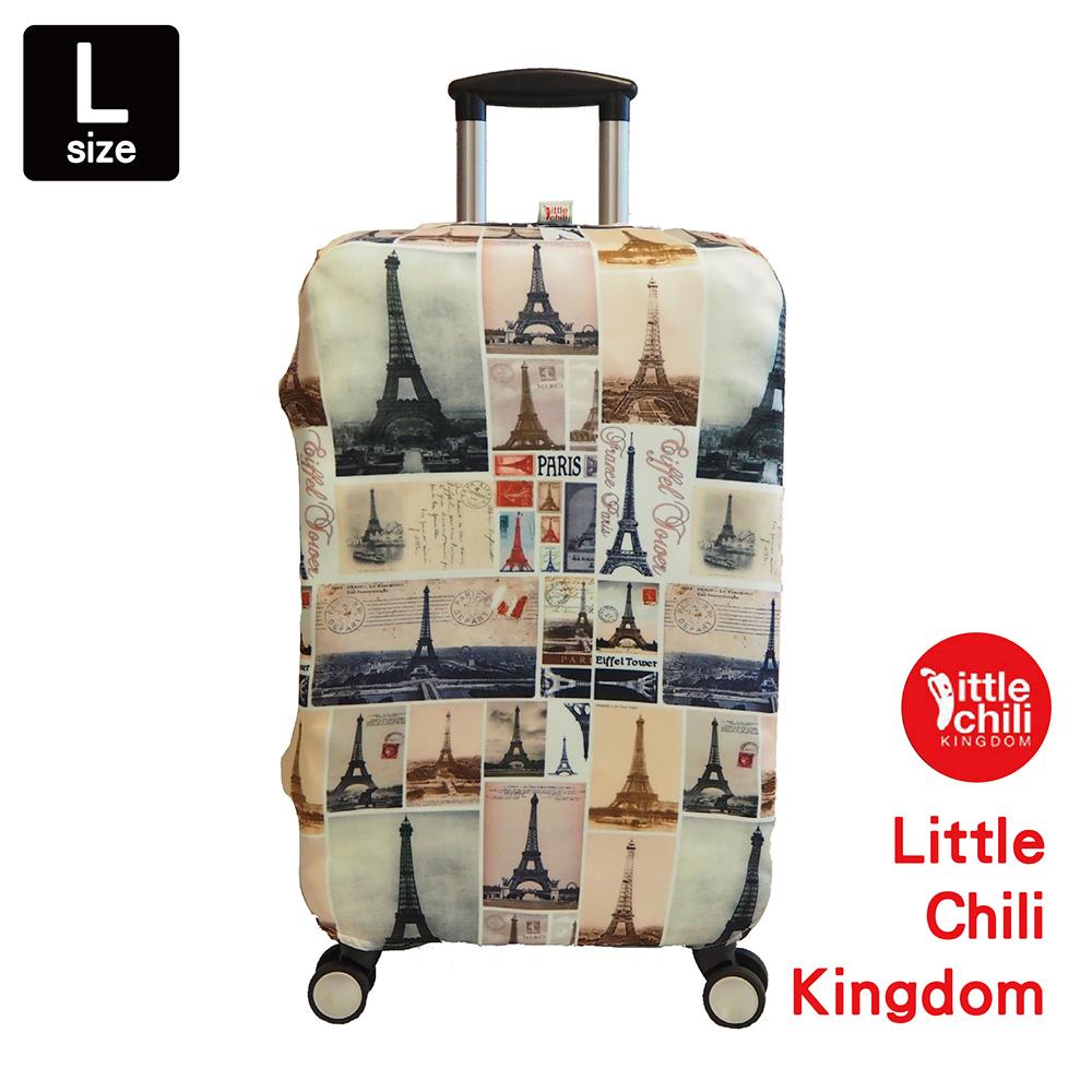 LittleChili行李箱套542-巴黎鐵塔-L