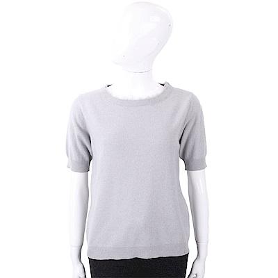 FABIANA FILIPPI 喀什米爾灰色抽鬚細節美麗諾羊毛衫