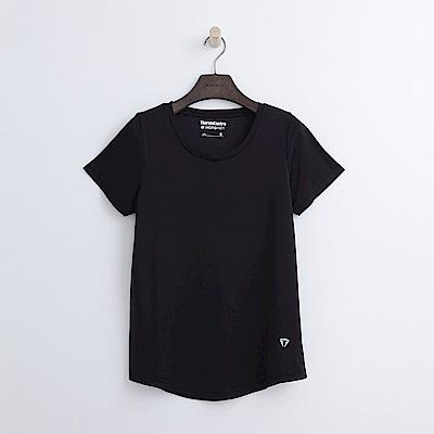 Hang Ten - 女裝 - ThermoContro寬鬆純色T恤-黑色