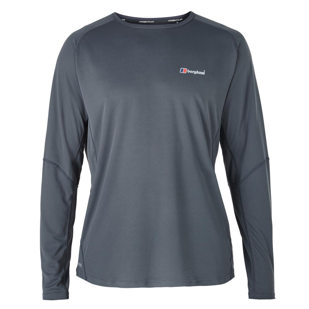 【Berghaus 貝豪斯】男款銀離子除臭抗菌抗UV長袖上衣S15M04灰/灰