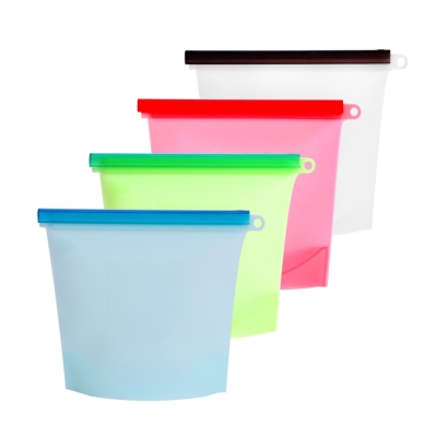 EG Home 宜居家 矽膠食物密封保鮮袋4入(1000ml)