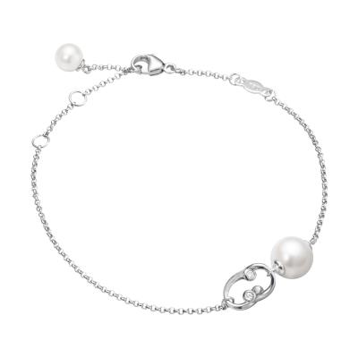 GEORG JENSEN-MAGIC 18K金珍珠鑽石手環