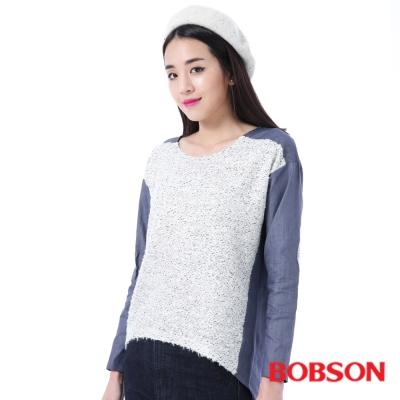 BOBSON  女款異素材寬鬆版上衣